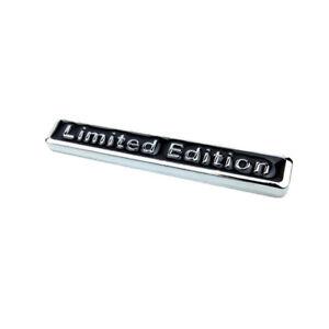 Black 3D Metal LIMITED EDITION Auto Car Rear Lid Fender Trunk Sticker Emblem