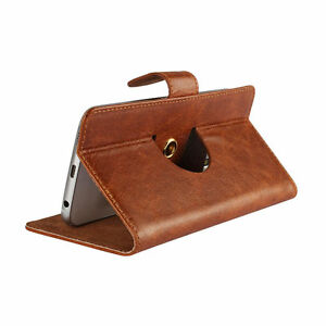 100-Real-Leather-Nano-Case-For-Huawei-P10-Plus-360-Brown-3