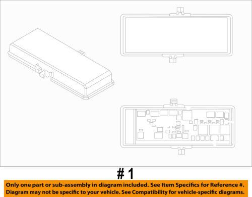 Dodge CHRYSLER OEM 12-18 Journey 2.4L-L4 Fuse Relay-Distribution Box 68143317AF