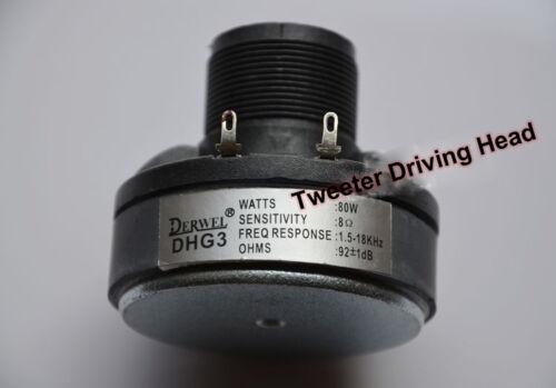 1pcs 25 Core 6ohm 80W Tweeter Driving Head Treble Speaker Loudspeaker Repair