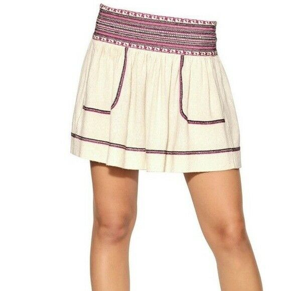 ISABEL MARANT ETOILE SZ 36 4 DAKE Embroidered Raw Silk Skirt
