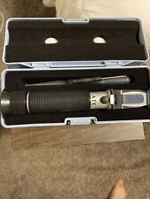 Portable Handheld Salinity Refractometer Atc With Case