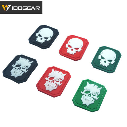 IDOGEAR Tatical Patch Morale Patch GUN PVC Patch Badge with Rubber Hook Military