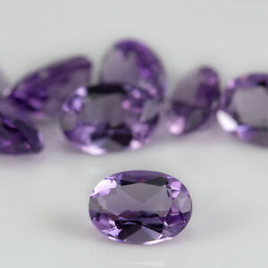8 x Amethyst 5.79tcw. Well matched for colour and cut and in excellent condition