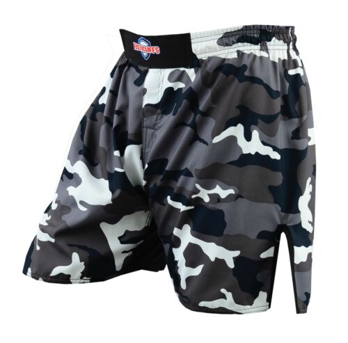Fisticuffs Camo Grey MMA Boxing Fight Grappling Kick Cage Fighting Short Shorts