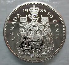 1986 CANADA 50 CENTS PROOF HALF DOLLAR COIN