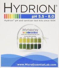 Hydrion Body pH TEST Tape Strips Paper Urine Saliva Dispenser 5.5-8.0 MPN 067