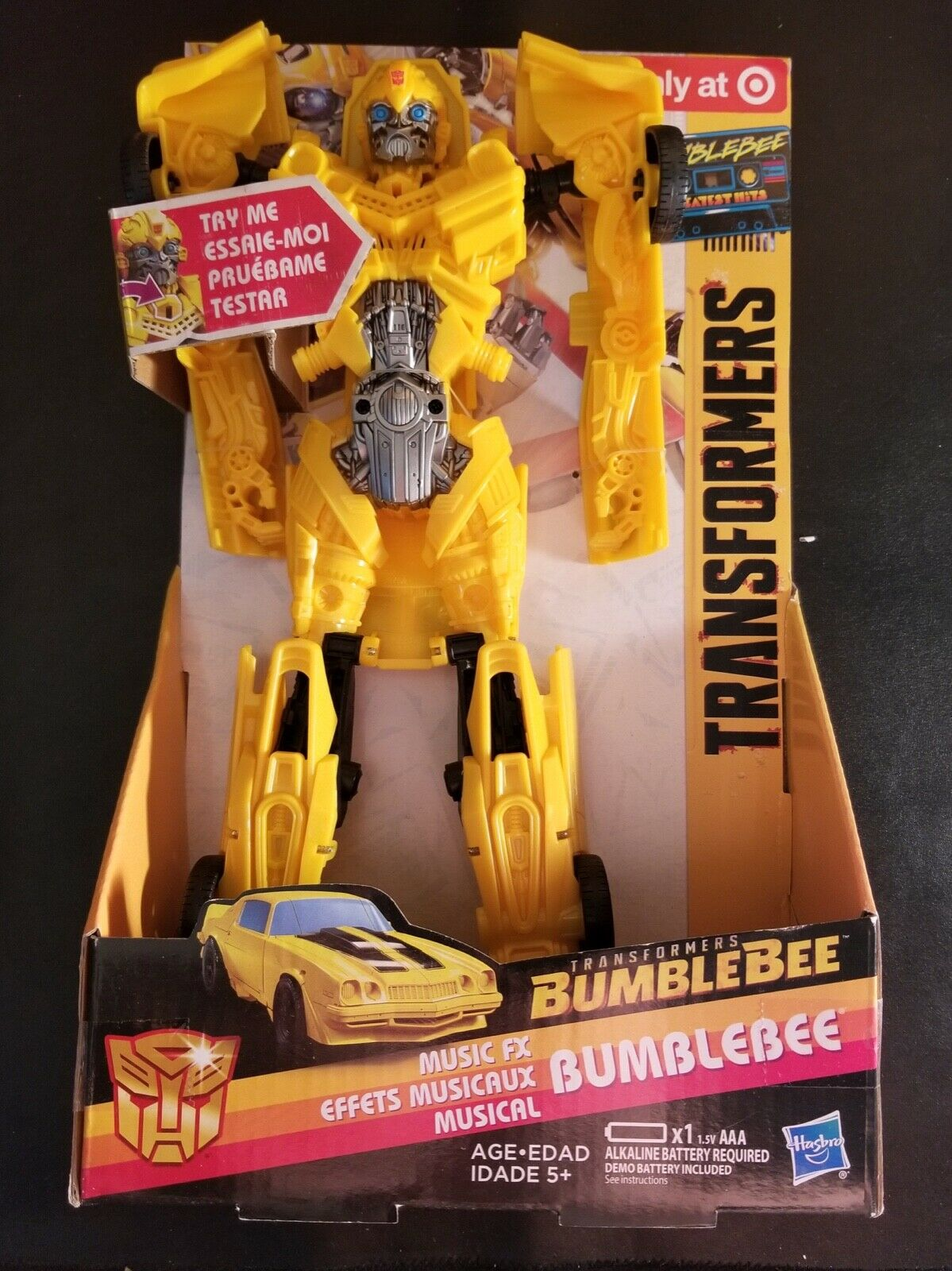 Transformers Bumblebee Greatest Hits Music FX Action Figure 12  Target - NEW