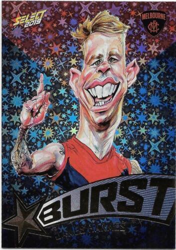 SBTC43 James HARMES Melbourne 2019 Footy Stars Starburst Team Colour