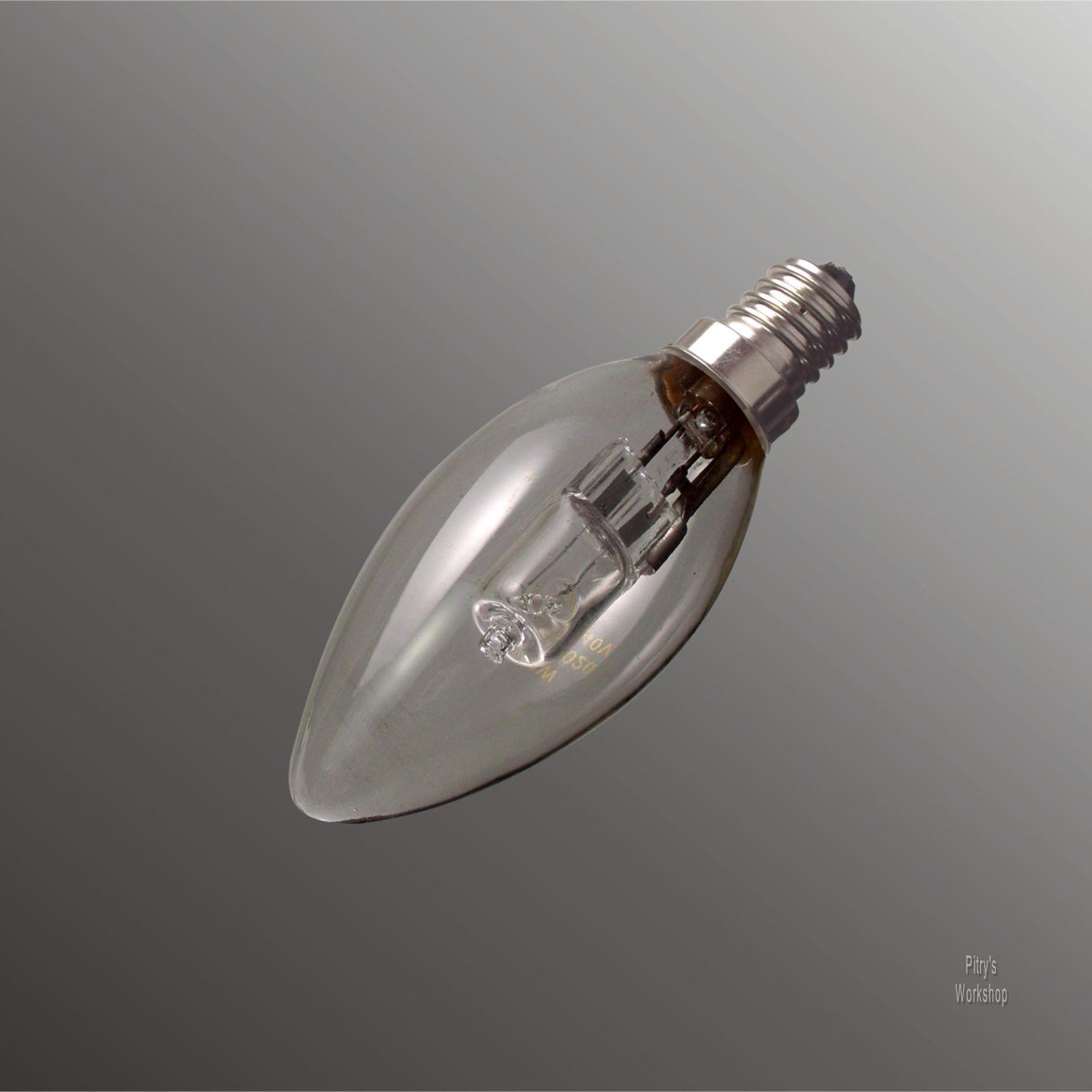 100 x Halogen-Lampe Kerze E14 18W 28W 42W für 25W 40W 60W klar