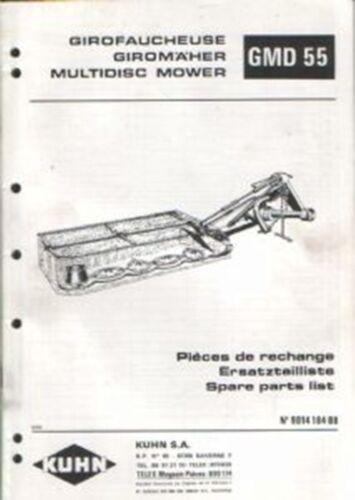 Kuhn Multidisc Cortadora gmd55 Manual De Piezas