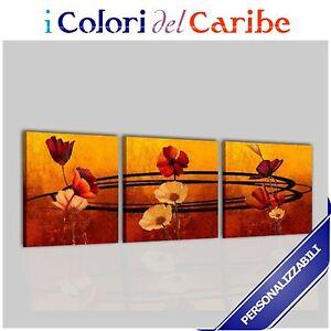 Quadri moderni astratti dipinti a mano olio su tela ocra for Dipinti ad olio fiori