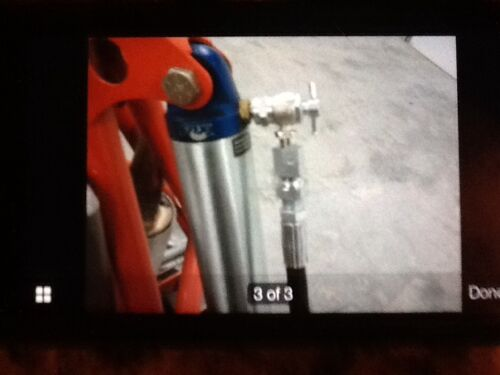 Needle Adapter 08-0075 RZR FOX Shocks Nitrogen regulator Kit w// no loss chuck