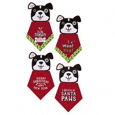 Dog Christmas Bandana Sizes Small & Large - choose your style