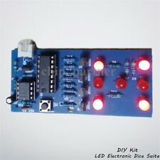 DIY Kits LED Electronic Dice Suite 4.5-6V Funny Dice Module Electronic Training
