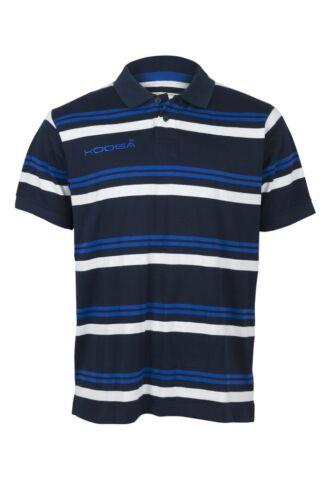 3XL Kooga yarn teint homme teamwear//off champ polo rayé bleu marine small