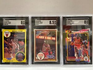 Lot of Michael Jordan 8 Cards Graded Starting Lineup 1988-1993