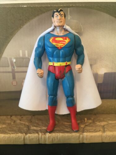 Cape Only W// S Emblem DC Kenner Super Powers Superman White Custom Cape