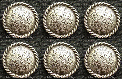 """WESTERN HEADSTALL SADDLE ANTIQUE GOLD ROUND ROPE EDGE CONCHO 5//8/"""" SCREW BACK"""