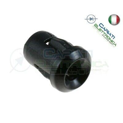 PORTALED CONICO FISSAGGIO LED 5mm GHIERA SUPPORTO PLASTICA ABS DA PANNELLO 10PZ