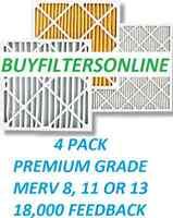4 Pack Merv 13 Premium Quality Air Filters Furnace Ac High Airflow Long Life