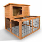 Rabbit Cage Hutch Wooden Pet Coop Guinea Pig Ferret House 2 Storeys 100cm Deluxe