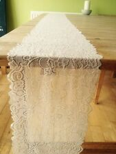 1 Off White Finest Vintage Style Lace - Wedding Decoration / Table Runner