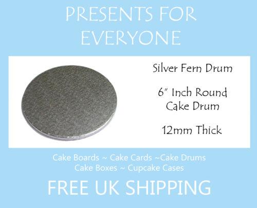 "board 12mm 2 x 6 /""inch Round mariage tambour gâteau d/'anniversaire"
