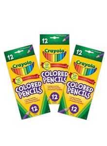Crayola 12 Ct Colored Pencils, Assorted Colors (pack Of 3)