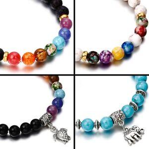 7-Chakra-Bracelet-Lava-Healing-Stones-Beaded-Gemstones-Beads-Elastic-Yoga