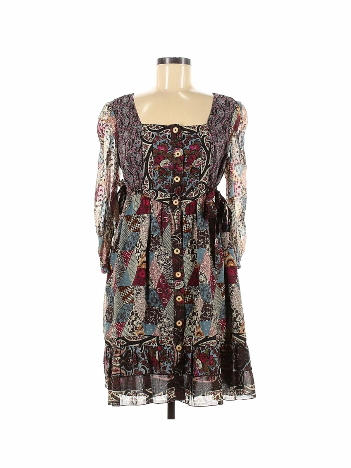 Anna Sui Women Brown Casual Dress 6 - image 1