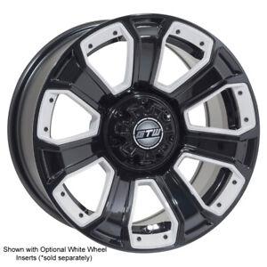 Set Of 4 14 Inch Gtw Nemesis Black Golf Cart Aluminum Wheels 14x7 Ebay