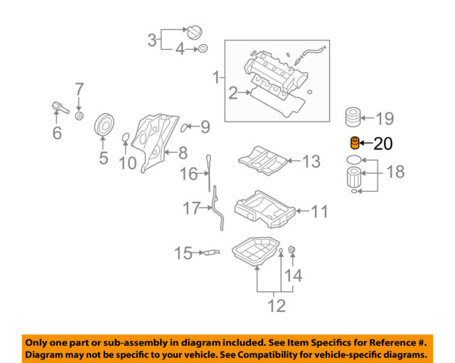 s l640 hyundai oem 06 09 sonata engine parts relief valve 263603c100 ebay