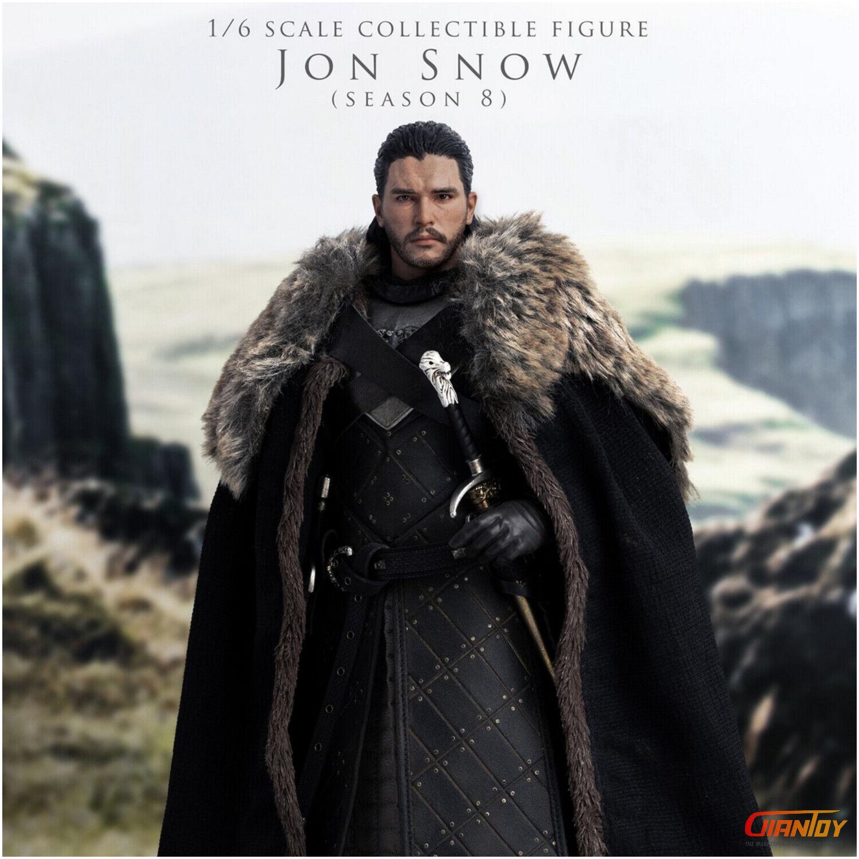 In-stock ThreeZero 3Z0101 1 6 Scale Jon Snow GAME OF THRONES 12in Action Figure
