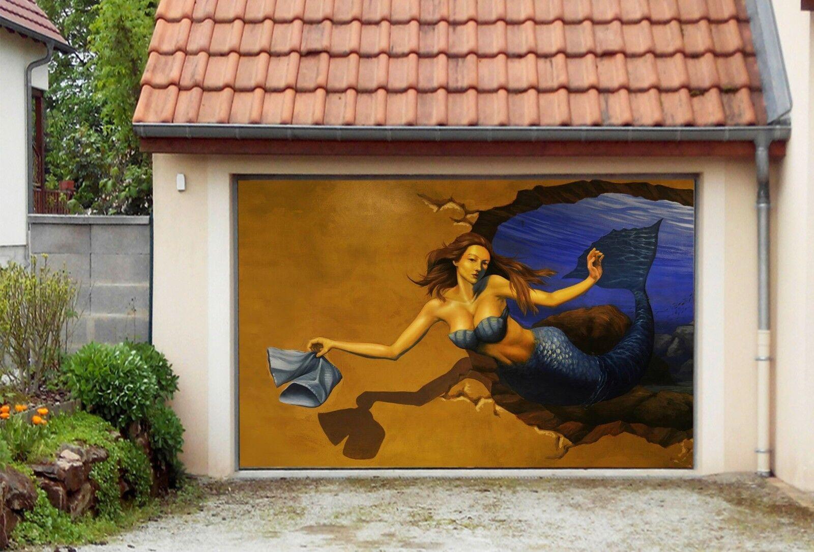 3D Beautiful Girl 453 Garage Door Murals Wall Print Wall AJ WALLPAPER UK Lemon