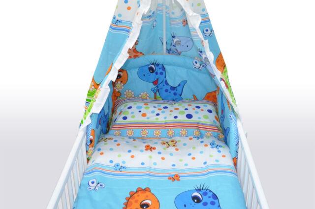 Baby Bettwäsche 2-teilig Kissenbezug 40x60 cm Deckenbezug 135x100 cm