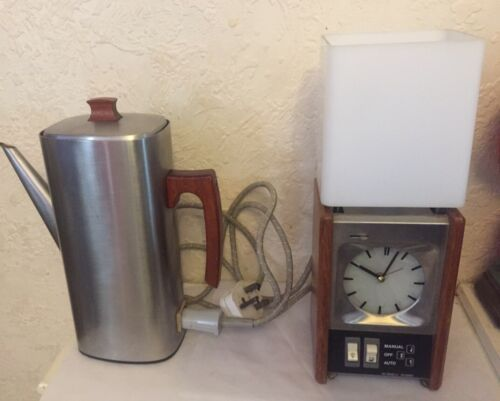 Rare Vintage Retro Russell Hobbs Tea Maker With Integrated Clock and Table Lamp
