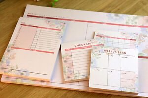 monthly weekly daily journal schedule planner memo notepad organizer