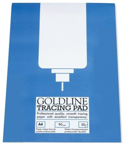 90gsm A4 Goldline Tracing Paper Pad 50 Sheet Pad