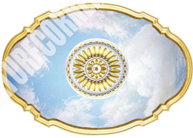 Dolls House Victorian Ceiling Center Panel Medallion 1/12th & 1/24th scale #28