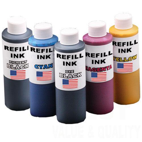 5 x 125ml Refill Ink fits Canon PGI-5, CLI-8, PGI-520, PGI-521 PGI-525 CLI-526,