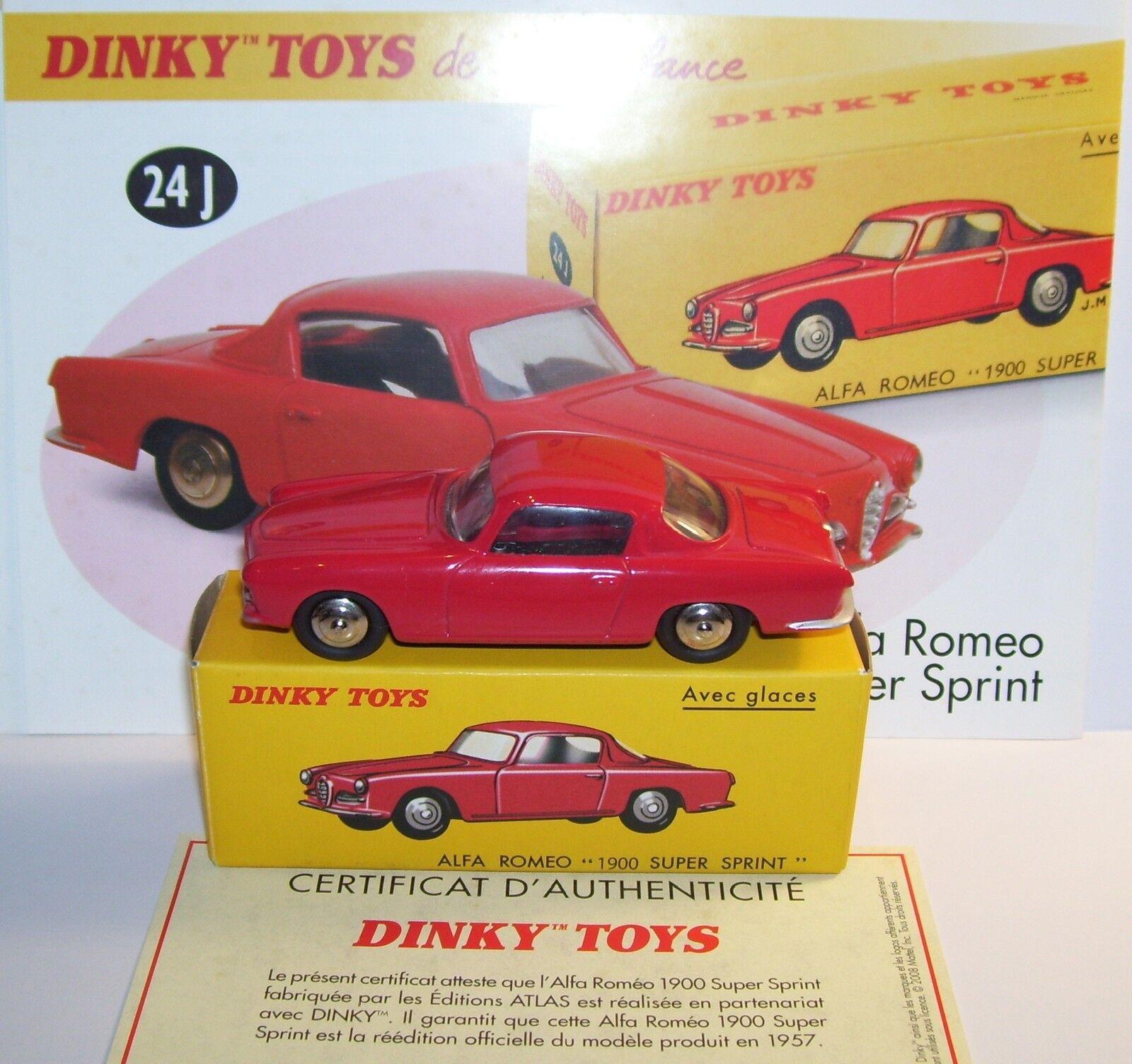 DINKY TOYS ATLAS ALFA ROMEO 1900 SUPER SPRINT RED REF 24J IN BOX 1 43