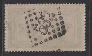 FRANCE-STAMP-TIMBRE-N-33-034-NAPOLEON-III-5F-VIOLET-GRIS-034-OBLITERE-A-VOIR-K045
