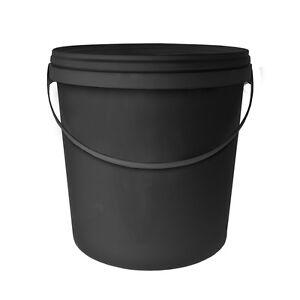Wundervoll Eimer + deckel schwarz 10L mit anse für fermenter tee kompost  GK17