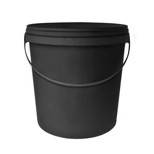 eimer deckel schwarz 10l mit anse f r fermenter tee kompost bel ftet ebay. Black Bedroom Furniture Sets. Home Design Ideas