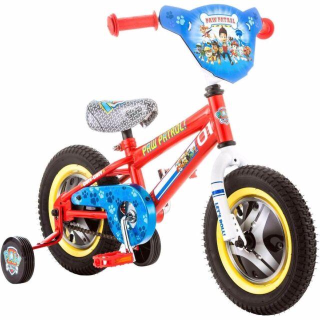 03609a04da8 Paw Patrol Kids Small Bike 12 Inch Girls Boys Toddler Bicycle w Training  Wheels