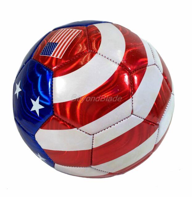 Bandera EEUU Balón Fútbol Resistente U.S Oficial Talla 5 Red / Blanco / Azul