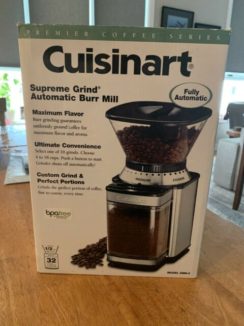 Cuisinart DBM-8 Supreme Grind Automatic Burr Mill Opened Box Never Used