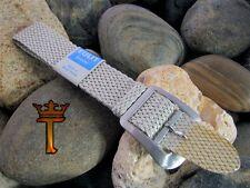 18mm Perlon Vintage Watch Band 1960s Unused Silver Braided Watch Strap Bracelet