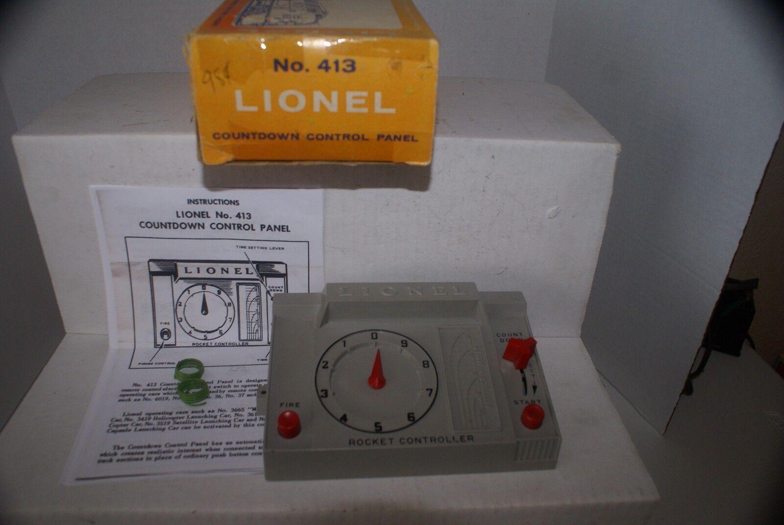 LIONEL  413 SEPARATE SALE COUNT DOWN CONTROL PANEL SHIPS gratuito